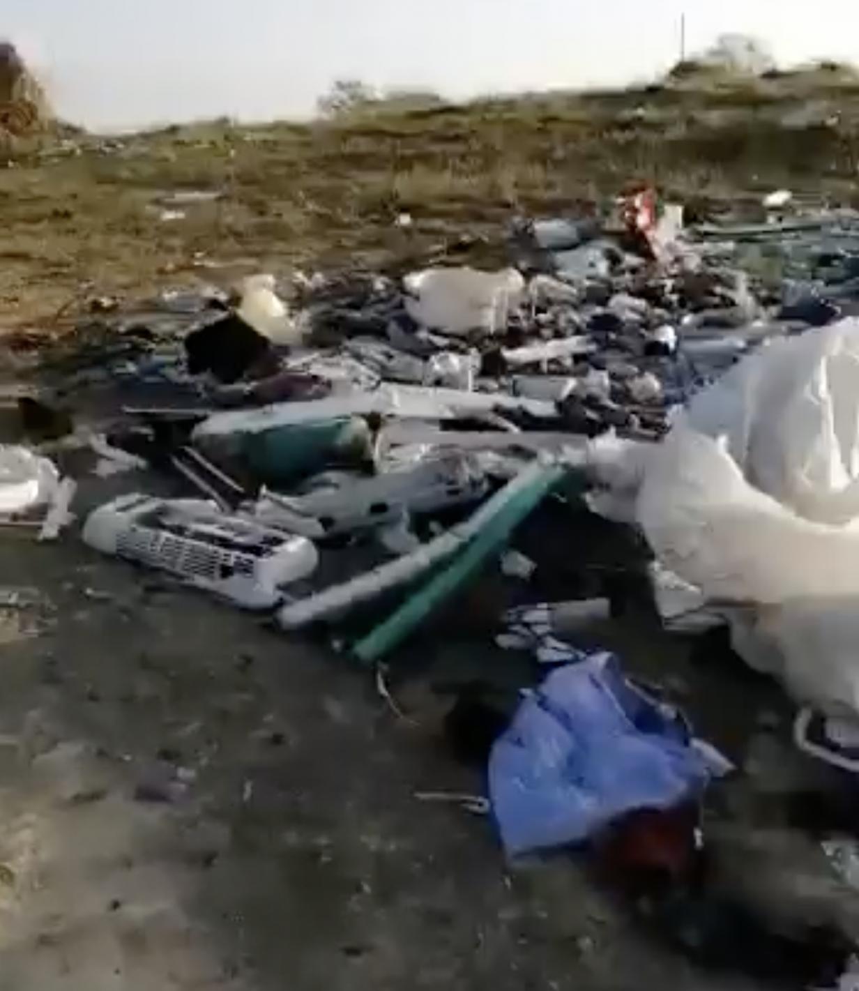 Frame del vídeo de las escombreras en La Isla
